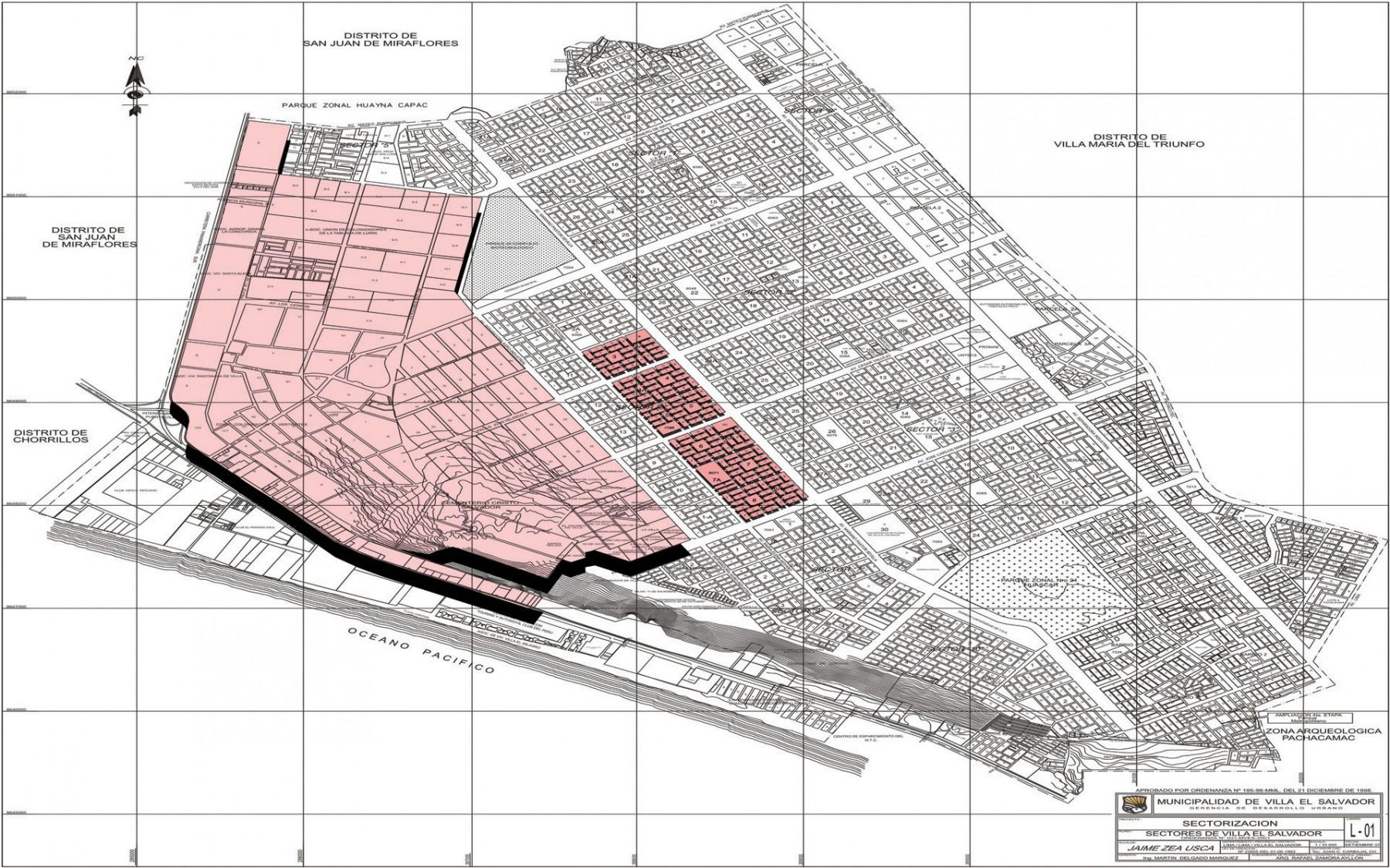 Mapping villa el salvador peru etruxes architecture for Plano de villa el salvador