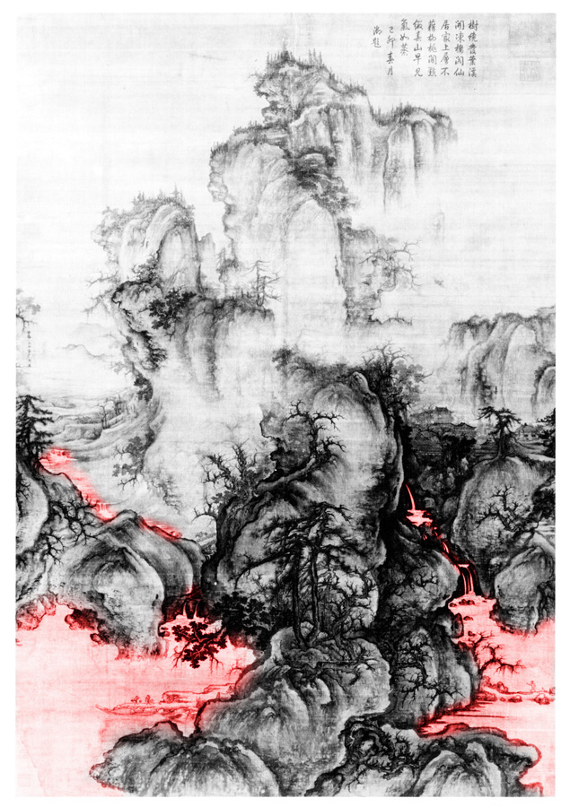 Kuo Hsi (active ca: 1060-1075) Early Spring,1072, spatial diagram 1