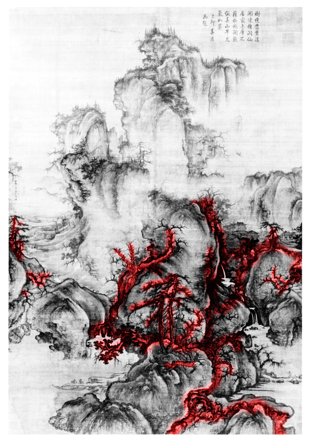 Kuo Hsi (active ca: 1060-1075) Early Spring,1072, spatial diagram 2