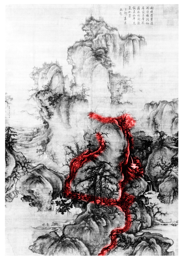 Kuo Hsi (active ca: 1060-1075) Early Spring,1072, spatial diagram 8